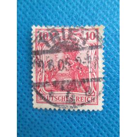 Selo Postal Antigo Da Alemanha 10 Deutsche Confira Foto