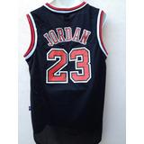 Jordan Clasico Jersey Negro Bulls Chicago Envio Gratis!