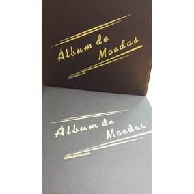 Album Moeda Pasta Fichario + Folha P/ 300 Moedas 2arg*