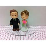 Noivinhos De Biscuit - Casamento Topo De Bolo - Promoção!!!
