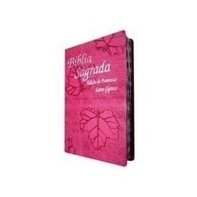 Bíblia Sagrada Letra Gigante E Harpa Luxo Pink Ou Lilás