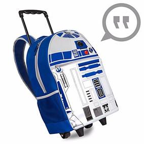 Mochila Star Wars R2-d2 Arturito Luz Carro Disney Store 2017