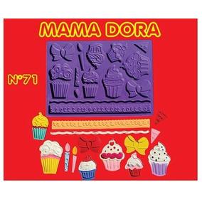 Molde Silicona Cupcakes Mama Dora Reposteria Porcelana Fria