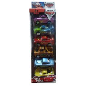 Set Carritos Cars De Fricción De 6pzas
