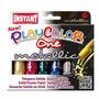 Tempera Sólida Escolar 6 Colores Metálicos 10 Gr Instant