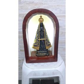 Oratório Artezanal Nossa Senhora Aparecida-embuia Maciça