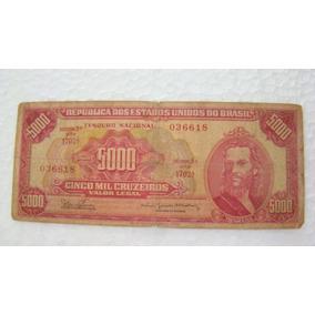 Brasil Cédula Cinco Mil 5000 Cruzeiros C 110 618 Tiradentes