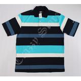 Camisa Pólo Xxl 55 Rap Hip Hop Azul Listrada 2 Crazzy Store