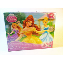Rompecabezas 3d Disney Princesas 3 En 1
