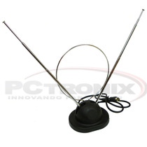 Antena Para Interior Tda 9db Ufh Vhf 80cms Tv Digital