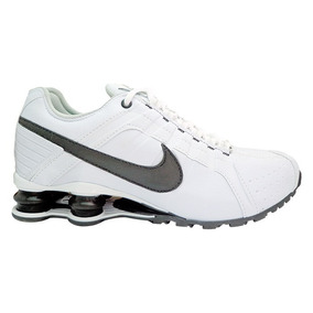 Tênis Nike Shox Junior Branco E Preto