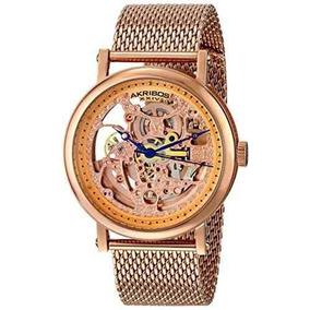 Reloj Akribos Xxiv Ak732rg Rosa/oro Masculino