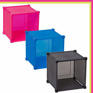 Cubo Guarda Todo Plastico Colores 31x31x28 Cm Diseño Moderno