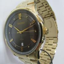 Relógio Pulso Orient Unissex Folhado A Ouro Novo Mgss1126