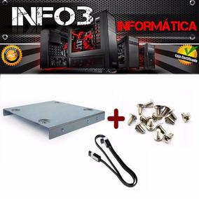 Kit Suporte Hd Ssd 2,5 / Desktop 3,5 + Parafusos + Cabo Sata