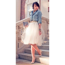 Falda Tul Unitalla Lolita Moda Japonesa Retro Vintage Retro