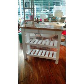 Mesas Auxiliares Cocina - Mesas de Cocina de Madera en Mercado Libre ...