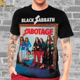 Camiseta Rock Black Sabbath Sabotage