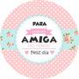 Stickers-etiquetas 70 Personalizados Día Del Amigo/a