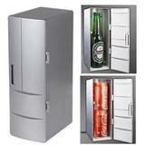 Refrigerador Gris Usb Carga Pc Portatiles Vehiculo 2 Latas.