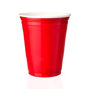 Red Cup Party Copo Americano Branco E Vermelho 400ml 25 Un