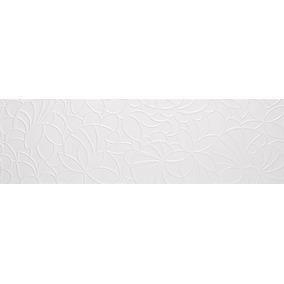Azulejo Snow Decor 33.3 X 100 Castel