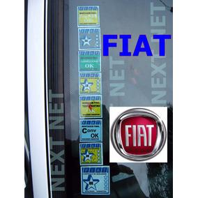 Adesivo Parabrisa Fiat Idea Punto Siena Brav Carro Zero @9