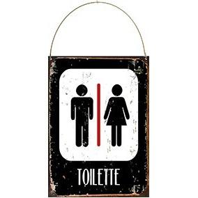 Cartel De Chapa Decoracion Vintage Toilette Baño Bathroom