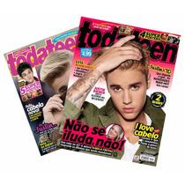Lote Justin Bieber C/ Desconto 2x Revista Todateen C/ Poster