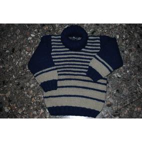 Sweters Varon Tejido A Mano Cuello Pelera