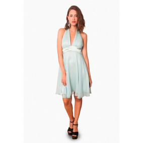 Vestido De Gasa, Escote Marilyn, Brishka, M-0052