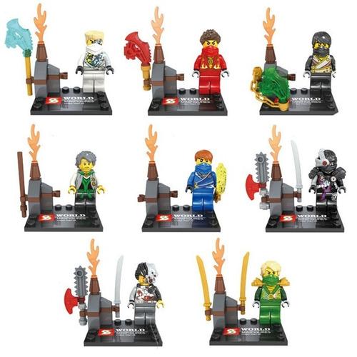 Kit Ninja Go Ninjas - 8 Minifigures - Pronta Entrega