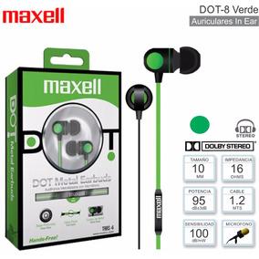 Audífonos Cable Plano Maxell Con Micrófono Dot-8 Metal Nuevo