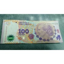 Billete $100 Reposición Evita