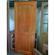 Puerta 2 Tableros Para Interior, Marco De Madera 80x200
