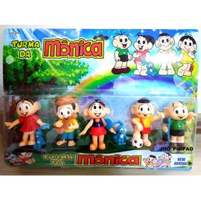 Miniaturas Turma Da Monica Com 6 Personagens, Chico Bento,