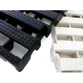 Kit 11 Pç Preto = 2,75m² Tapete Rigido 4,5x50x50 Box