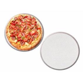 Tela Pizza Aluminio Forma Esfiha Pizzaria Cantina 30cm