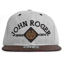 Boné John Roger Caribbean Aba Reta Strapback Cinza