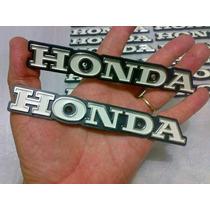 Par Emblema Honda Do Tamque Cg125/ml 77/82. De Plastico Pvc