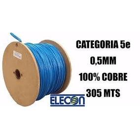 Cable Utp Cat 5e 100% Cobre Bobina 305 Mts Elecon
