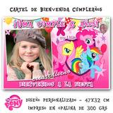 My Little Pony - Cartel De Cumpleaños Con Tu Foto Divino!!!