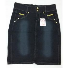 Saia Jeans Com Lycra Moda Evangélica Promoção Para Você!!