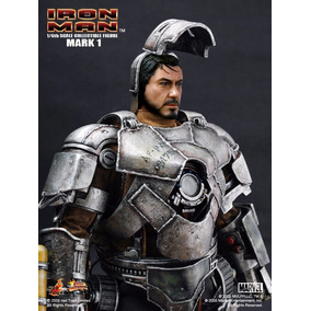 Homem De Ferro Hot Toys Mark 1 V1 Ironman Tony Stark Mark I