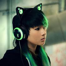 Cat Ear Audifonos Orejas De Gato, Verde - Blakhelmet Nsp