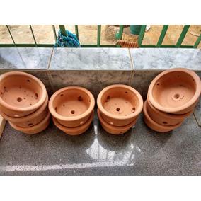 Jogo 6 Vasos De Barro Nº 2 Floricultura Orquídea 21x12 Cm