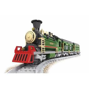 Blocos Montar Trem Maria Fumaça Com Vagões 666 Peças