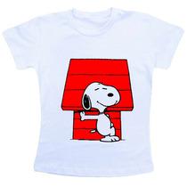 Camiseta Baby Look Feminina Snoopy Ref775