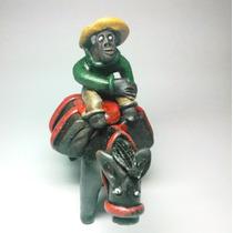 Escultura Jegue Artesanal Nordestino De Barro Pp