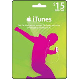 Itunes Gift Card Usd 15